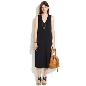 NWT Madewell v neck tank dress in black